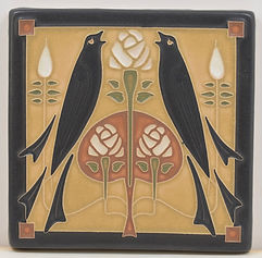 arts and crafts tile songbirds decorative tile