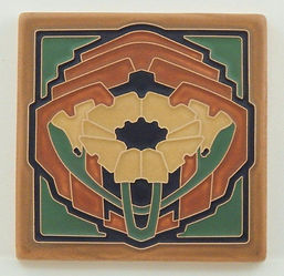 Arts and Crafts Tile Poppy Butterscotch
