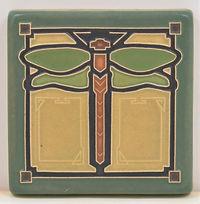 arts and crafts tile dragonfly tile nature tile
