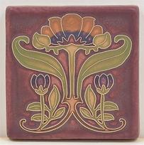 arts and crafts tile plumeria tile flower