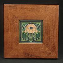 Framed Motawi Poppy Tile