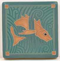 Arts and Crafts Tile Fish Sienna