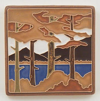 Arts and Crafts Tile Lake Tahoe Pines Fall