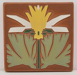 Arts and Crafts Tile Prairie Lily Desert