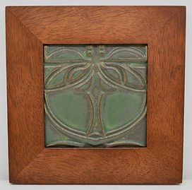 Framed Motawi Celtic Tile