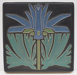 Arts and Crafts Tile Prairie Lily Azure