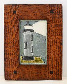 Ravenstone Lighthouse Tile in Morris Oak Frame
