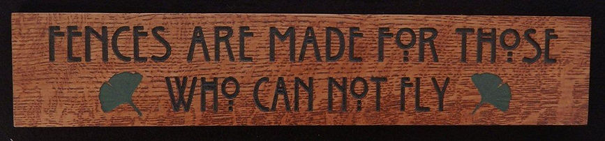Oak Motto Plaque for craftsman arts and crafts home