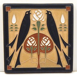 Arts and Crafts Tile Songbirds Straw