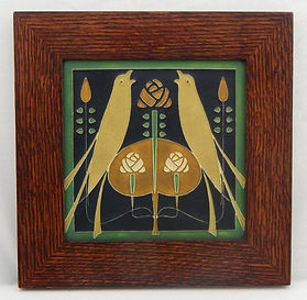 Framed Motawi Songbirds Tile