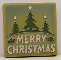 Arts and Crafts Tile Christmas Green