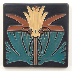 arts and crafts tile prairie lily sienna