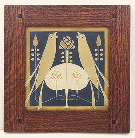 Framed Motawi Songbird Tile