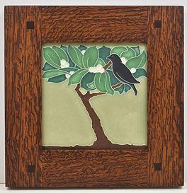Framed Motawi Berry Tree Tile