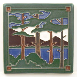 Arts and Crafts Tile Lake Tahoe Pines Summer