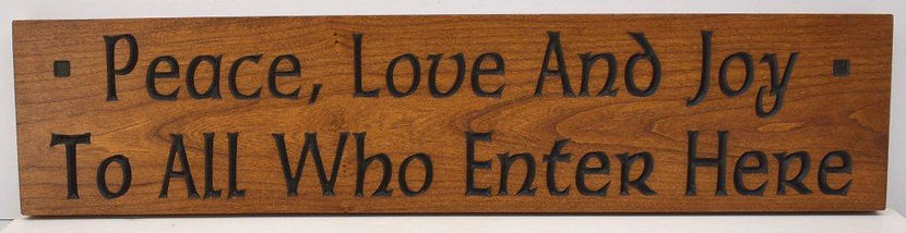 Cherry Motto Plaque for Mission arts and crafts home decor
