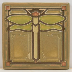 arts and crafts tile dragonfly