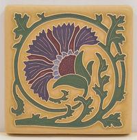 arts and crafts tile carnation tile flower tile decorative