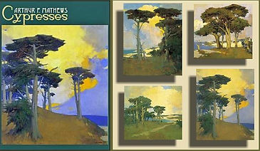 Arts and Crafts Notecards Cpresses by Arthur F. Mathews