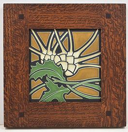 Framed Motawi Thistle Tile