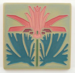 Arts and Crafts Tile Prairie Lily Pink