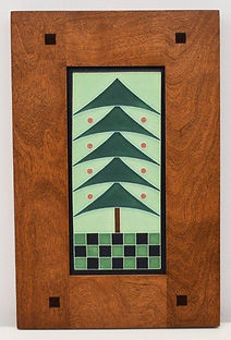 Framed Motawi Christmas Tree Tile
