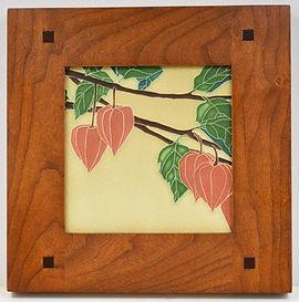 Motawi Japanese Lantern Tile in Morris Cherry Frame