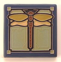 Arts and Crafts Tile Dragonfly Sapphire