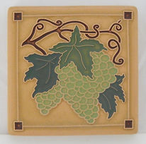 Arts and Crafts Tile Grapvine Chardonnay