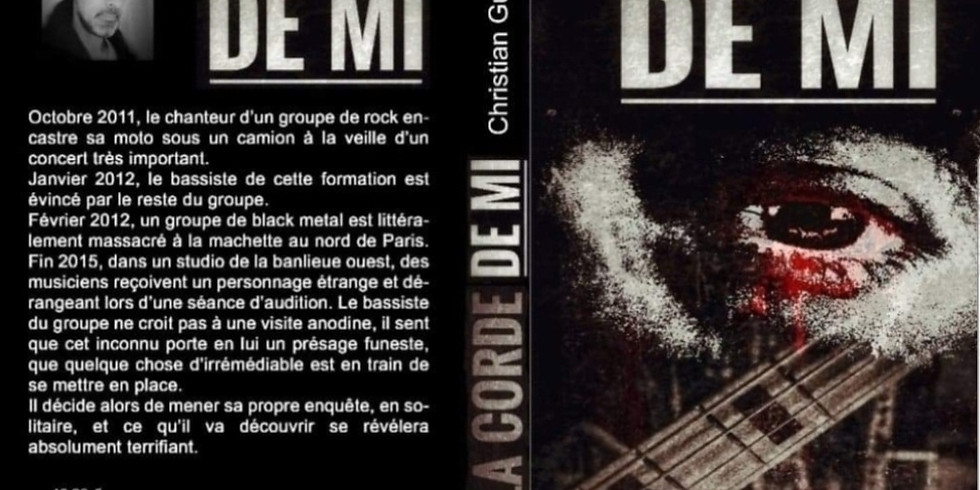"""Dédicace du livre """" La corde de mi"""" avec l'auteur Christian Guillerme"""
