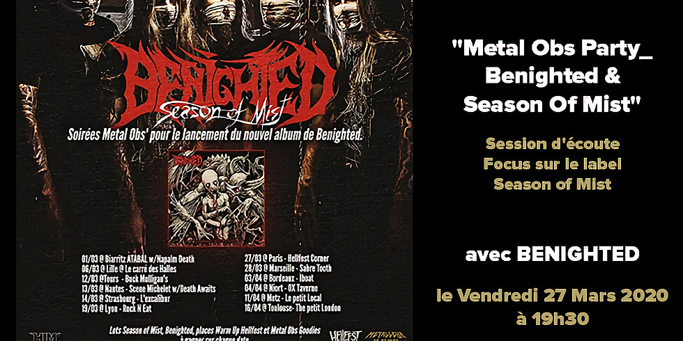 Metal Obs Party_ Benighted & Season Of Mist
