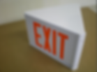 Exit sign fabrication