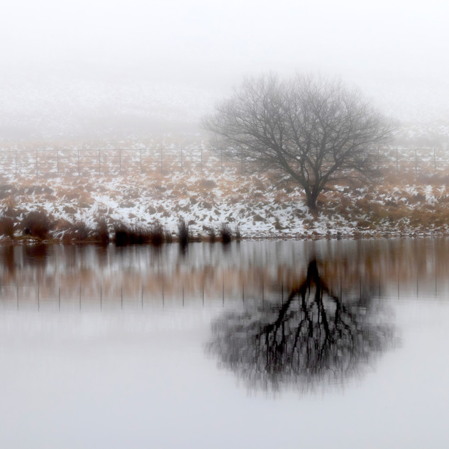 Winter Reflection, The Pentland Hills, Edinburgh, Scotland