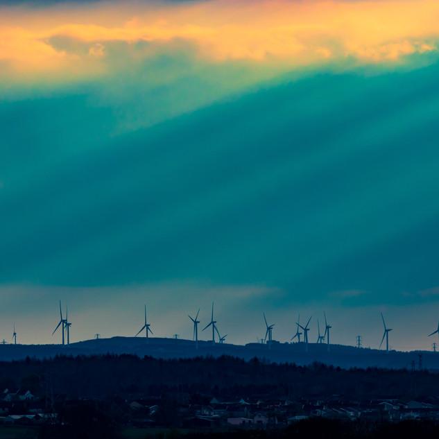 Sun Beams, West Lothian, Scotland