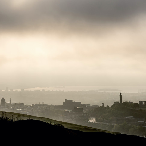 (147) Edinburgh in the mist and fog from