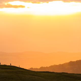 Golden Hour Sunset on Arthur's Seat, Edinburgh