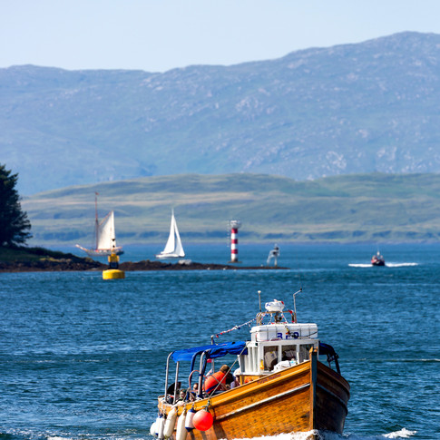 (708) The Purple Heather Boat, Oban Bay,