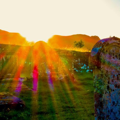 (703) Graveyard at Sunset, Oban, Argyll