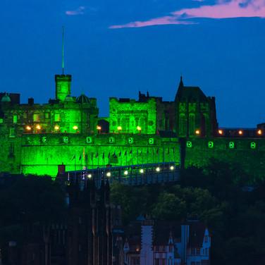 (391) Edinburgh Castle in Green, Edinbur