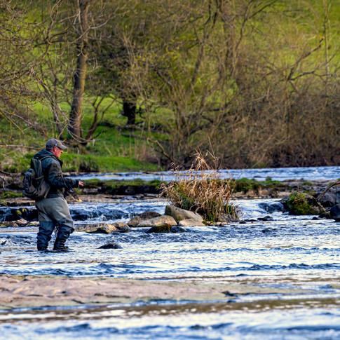 (1554) Fisherman on the River Almond, Li