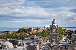 (6) Balmoral Hotel Clock Tower and Calton Hill, Edinburgh, Scotland. Copyright David Wheat