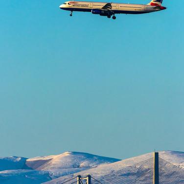 (1316) British Airways Plane on Final Ap