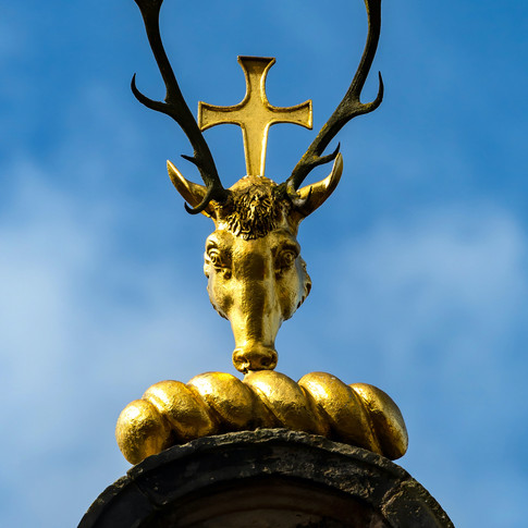 (506) Gilded Stag Antler Cross, Kirk of