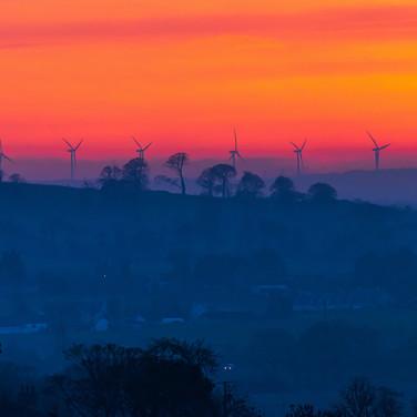 (1526) Sunset, Kirknewton to Wind Farm a