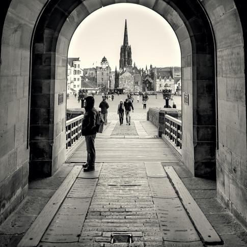 (383) View through Edinburgh Castle Gate