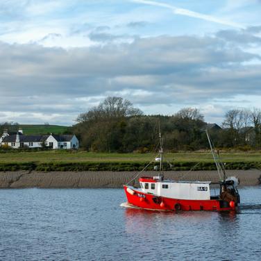 (770) Fishing Boat on River Dee, Kirkcud