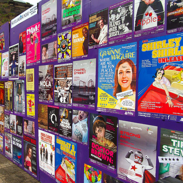(89) Colourful Fringe festival posters a