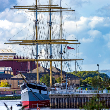 (260) The Tall Ship Glenlee, Riverside,
