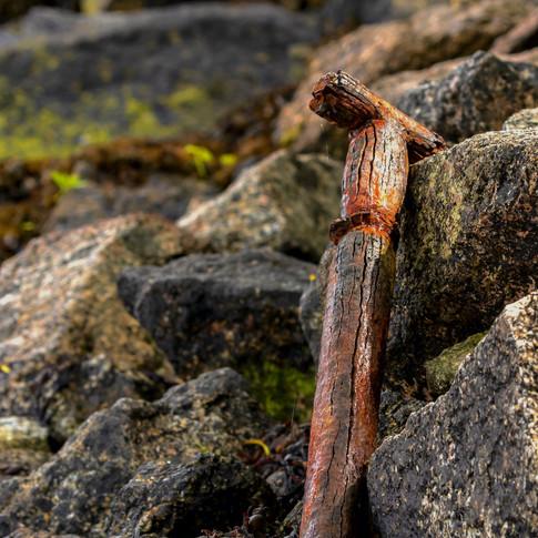 (1142) Old Spade Handle, Shores of Loch
