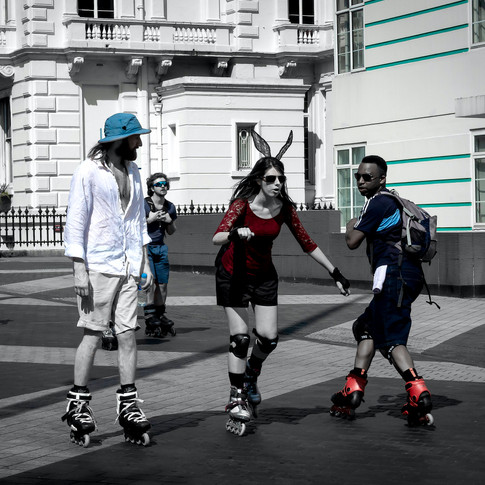 (235) Roller Blading, Exhibition Road, S